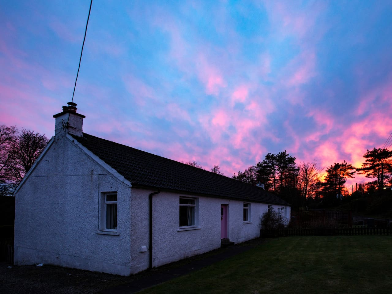 Sunset over Culsharg Cottage