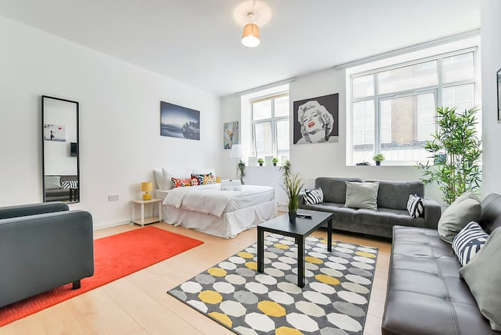 Wonderful Studio Flat In Camden Town-For 3 People