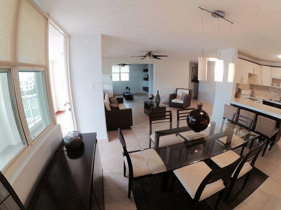 Open Floor Plan / Living Room /Dinning Room / Full Kitchen