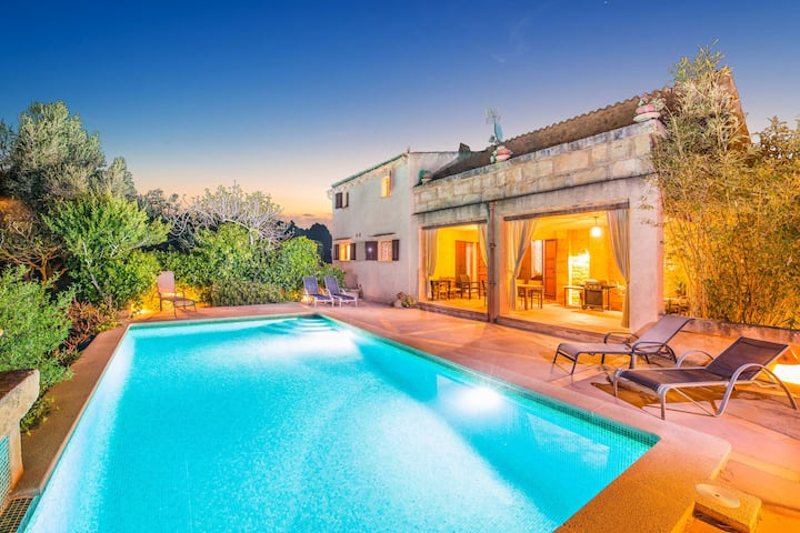 SON GORRIÓ - Villa with private pool in Sant Llorenç des Cardassar. Free WiFi