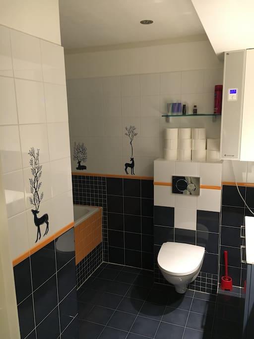 Bathroom with shower / bath