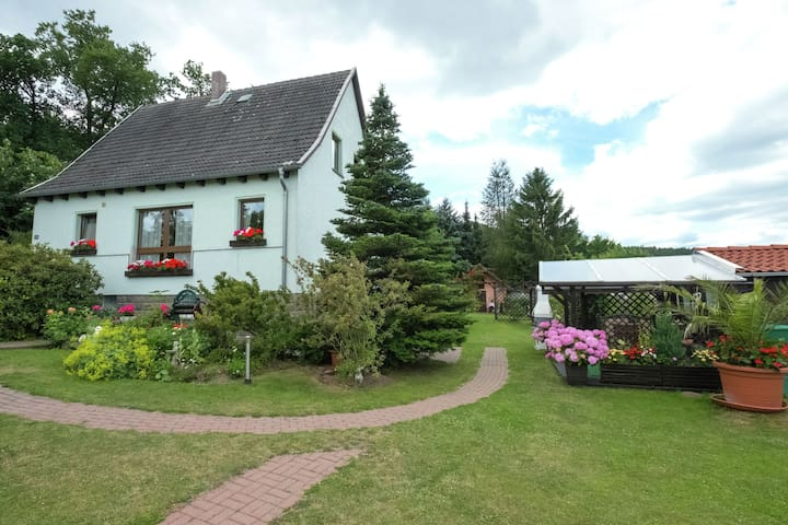 Quietly situated apartment in Wienrode in the Harz with 2 terraces