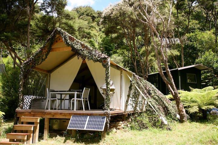 "Luxury ""Glamping"" in native bush - Orapiu, Waiheke - Auckland"