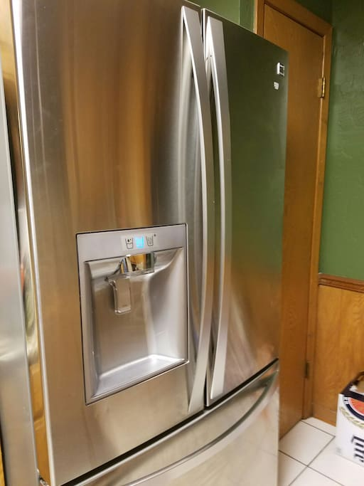 Stainless full size refrigerator new!