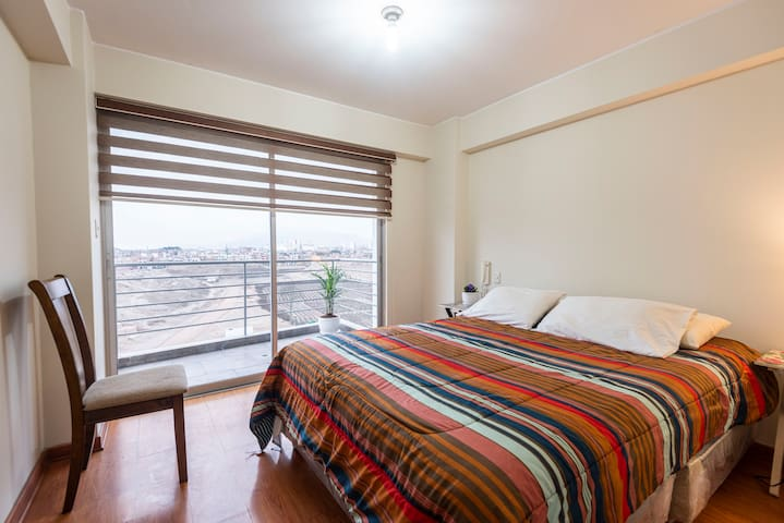 Dormitorio principal toma fotográfica en invierno 2020