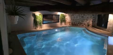 Charming guest house with indoor heated pool