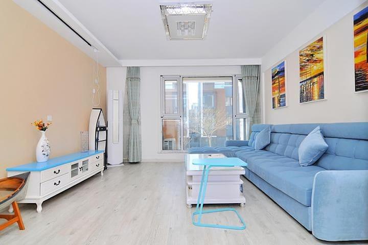 瑞舍-花园洋房@温泉海边,海鲜自加工!休憩、度假首选! - Qingdao - Apartament