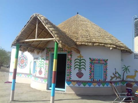 Non AC Traditional Mud House near White Rann