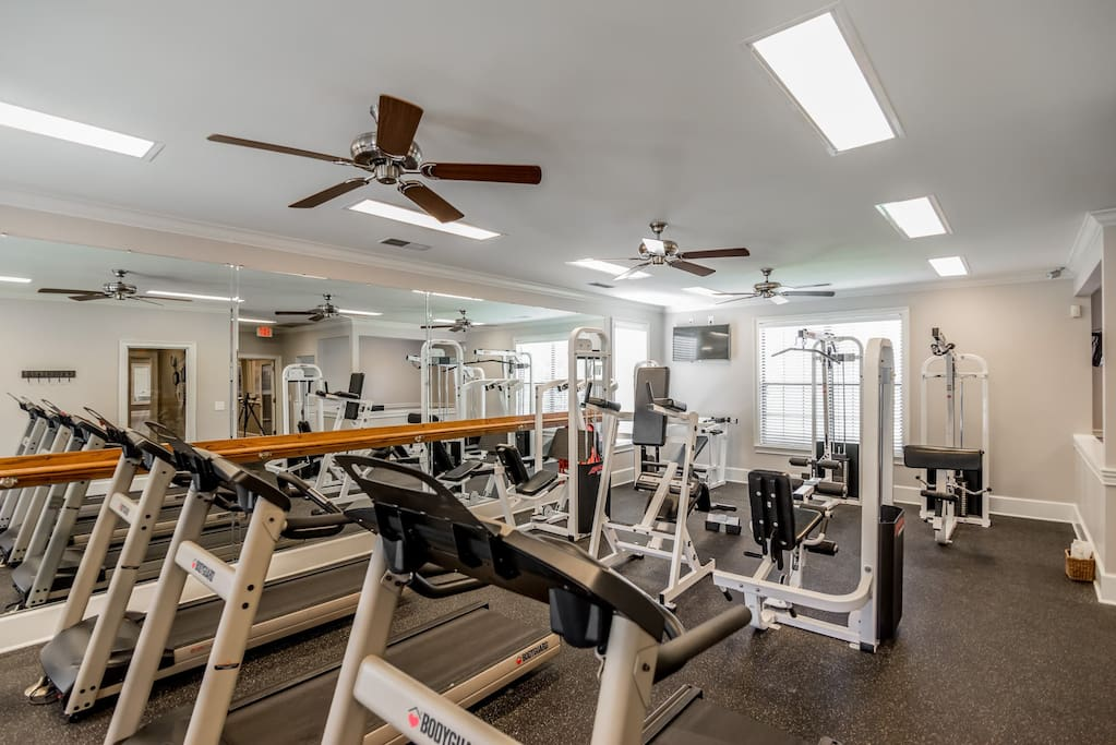 Premium east end apartment exercise room
