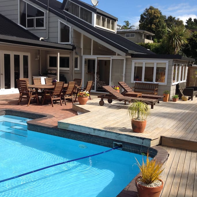 Beautiful deck and large swimming pool