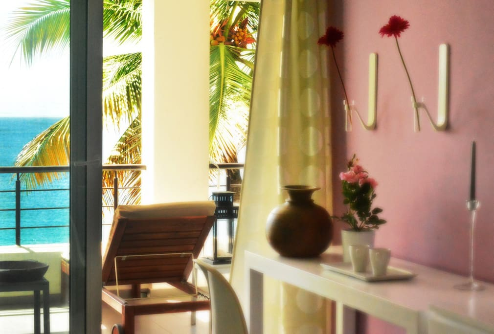 Guest bedroom RUBI with a balcony