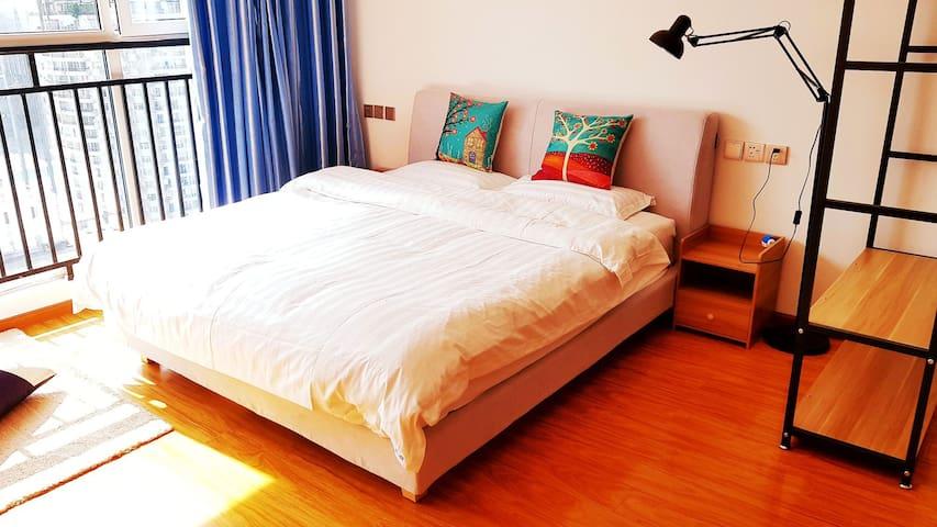 度家公寓 市中心人民公园舒适大床房