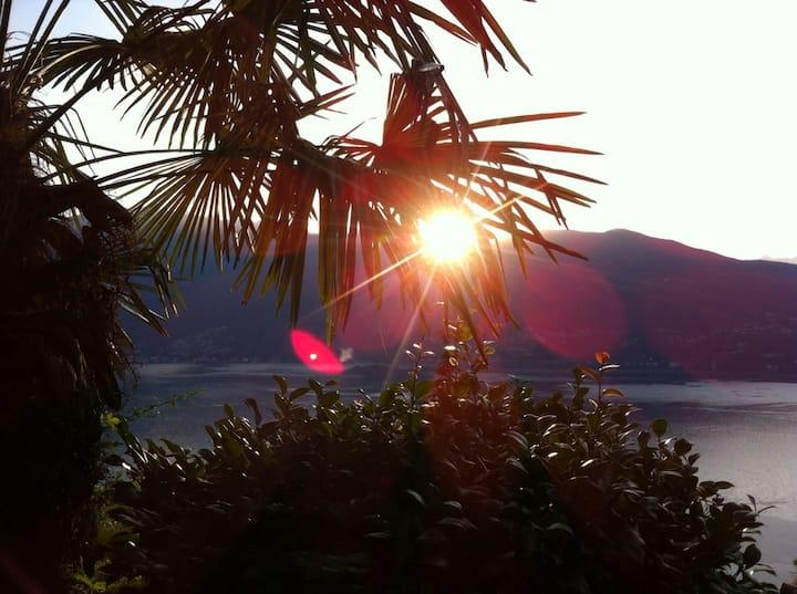 Breathtaking view over Lago Maggiore