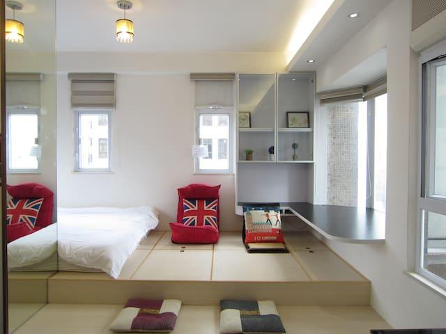 Bright & Modern Apartment, 2mins to MTR & Bus Stop - Hong Kong - Apartment