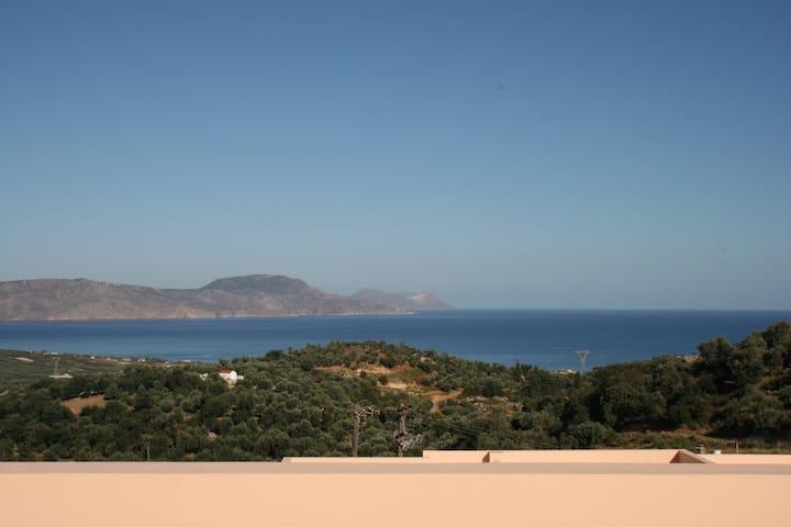 A spectacular panorama in a Cretan Village