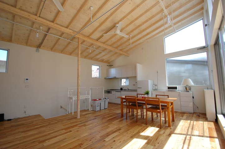 Spacious, very clean, sunny space, near station - Shinjuku-ku - Hus