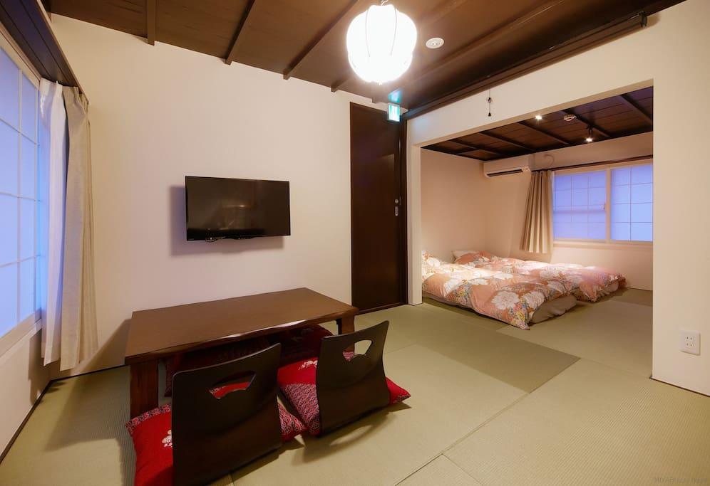 Japanese tatami-flooring room