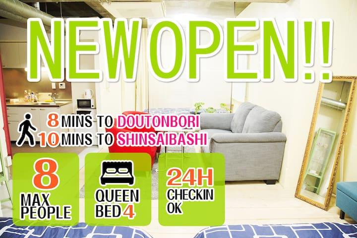 #2.8mins to Dotonbori/Namba/Shinsaibashi Area! - Nishi-ku, Ōsaka-shi - Apartment