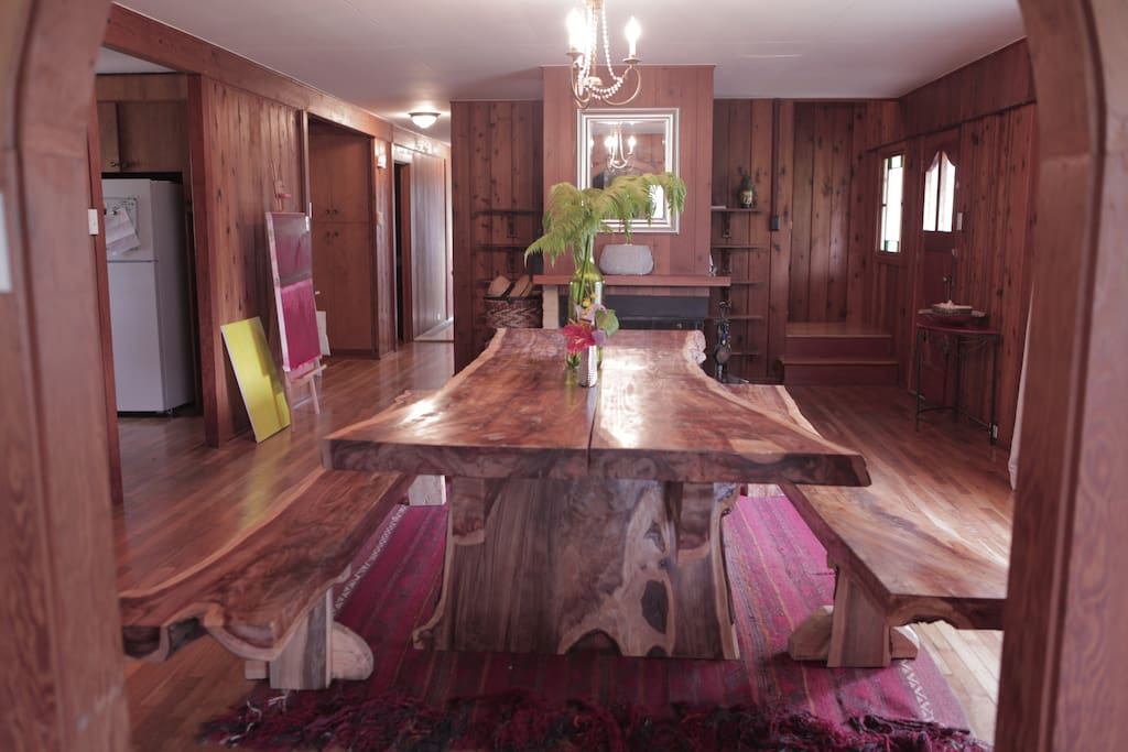 The entire main home is made of European Cedar giving our guests a taste of a luxurious cabin in the rainforest.