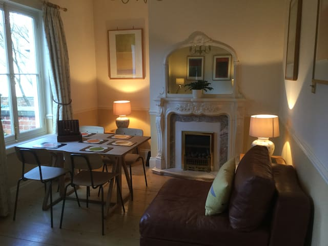 Garden flat with parking close to City Centre