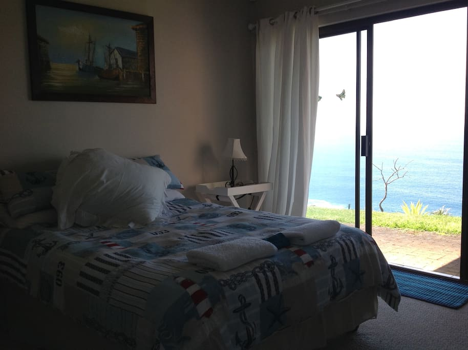 Bedroom 1 with view of the ocean