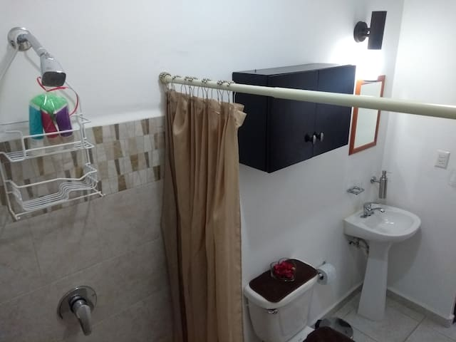 Bathroom.  Baño completo.