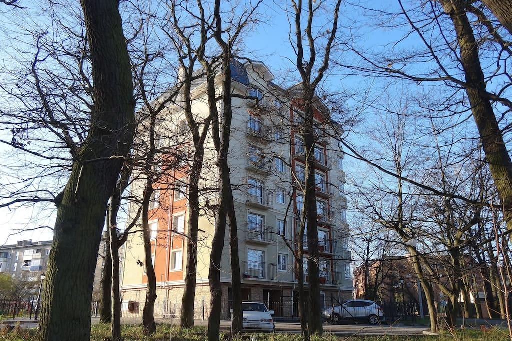 Апартаменты расположены на 7 этаже. Других жилых помещений на этаже нет.