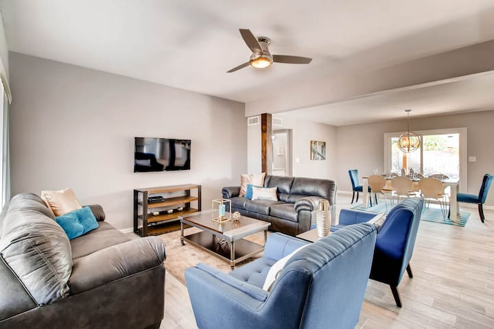 Catch the Game in spacious living room!