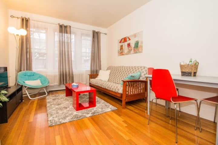 Sunny, Renovated, Furnished 1-Bed