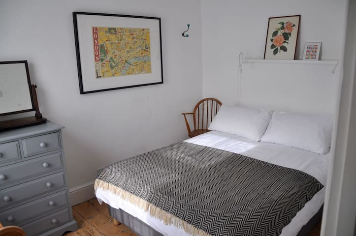 The guest room/ second bedroom