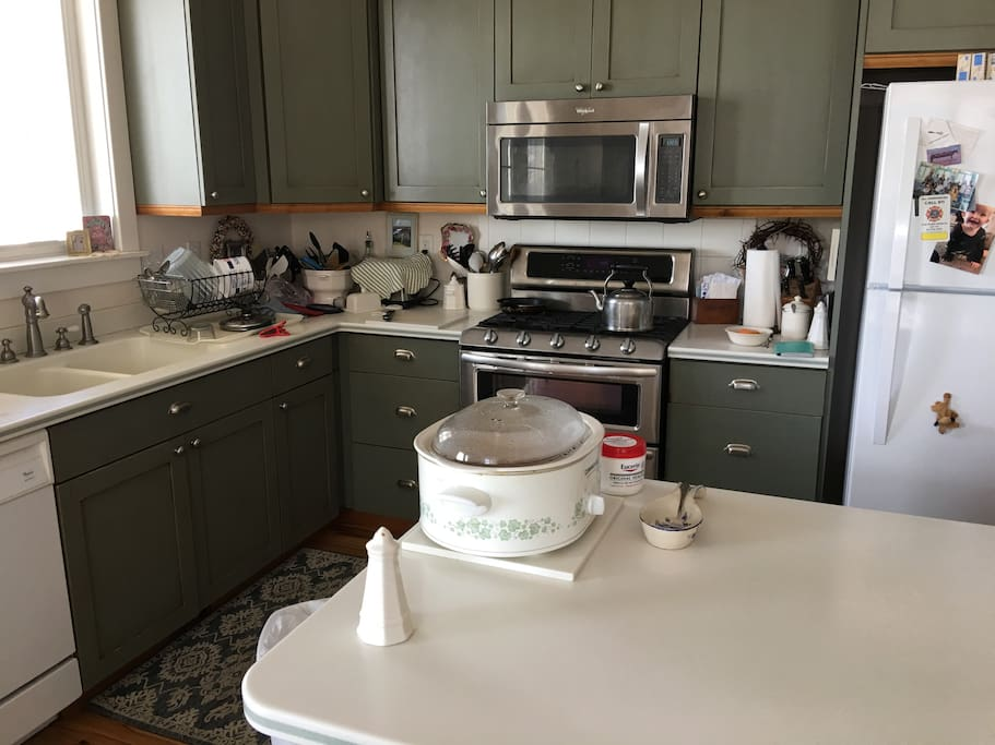 Spacious country kitchen. All meals available upon request