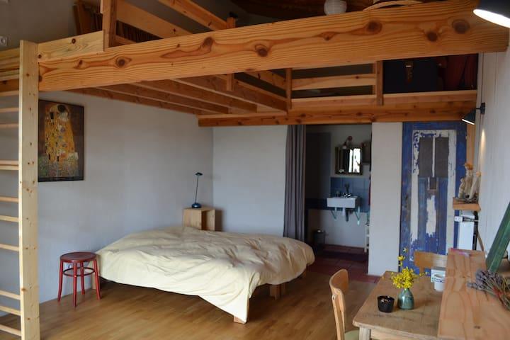 chambre d'hôtes 1001 collines, Monts du Lyonnais - Saint-Martin-Lestra - Dům v zemi