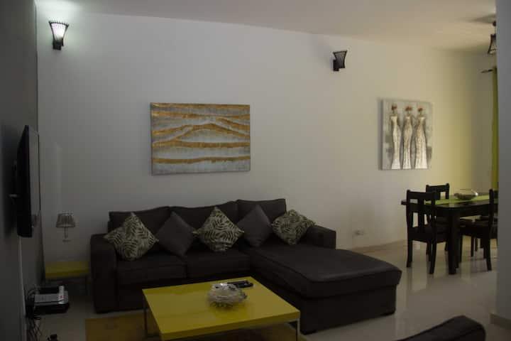 Bel appartement spacieux meublé avec goût