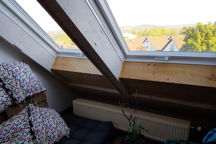 Studio mit Ausblick auf den Heiligenberg