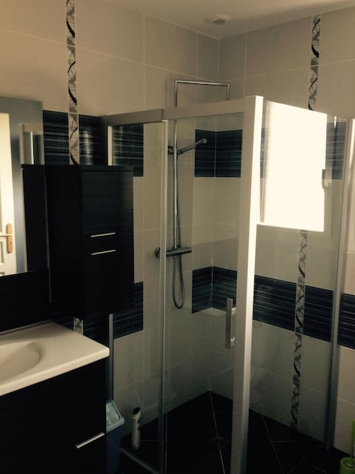 Chambre sympa avec salle d 39 eau et toilette priv es casas en alquiler en grand champ bretagne - Fotos van salle d eau ...