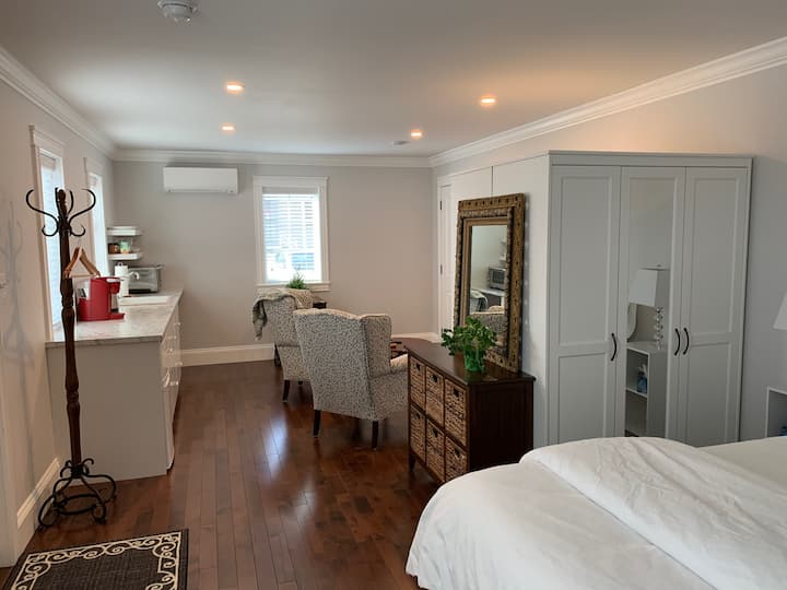 NEW luxe downtown studio, private entry, no stairs