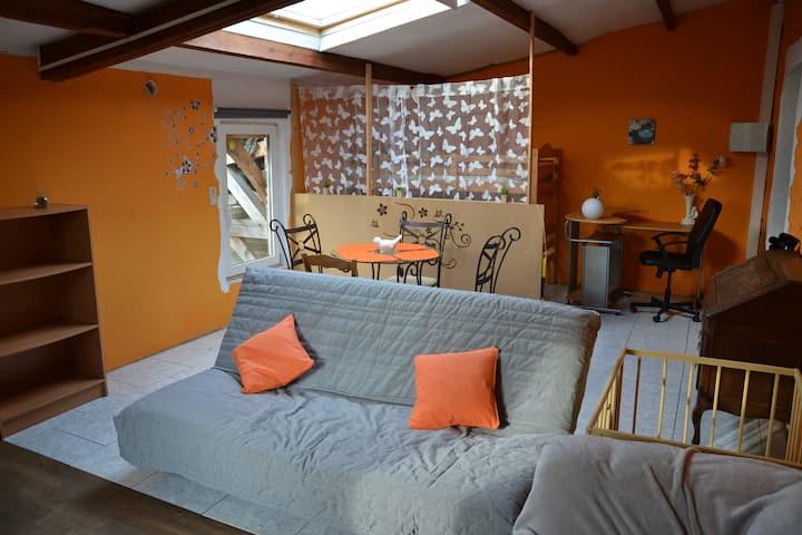 Appartement dans un village calme