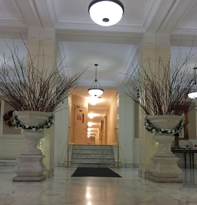 Beautiful marble lobby