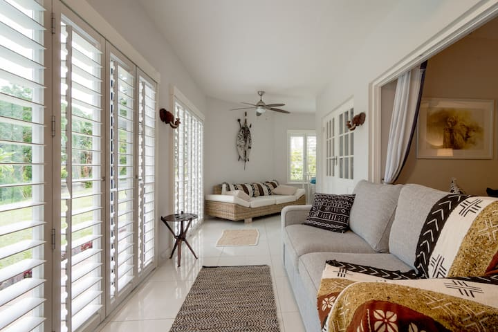 Serviced St Lucia waterside home with a view