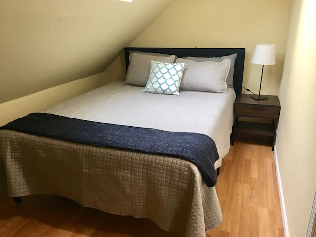 The Blue Room w/ Queen Bed in Finished Attic