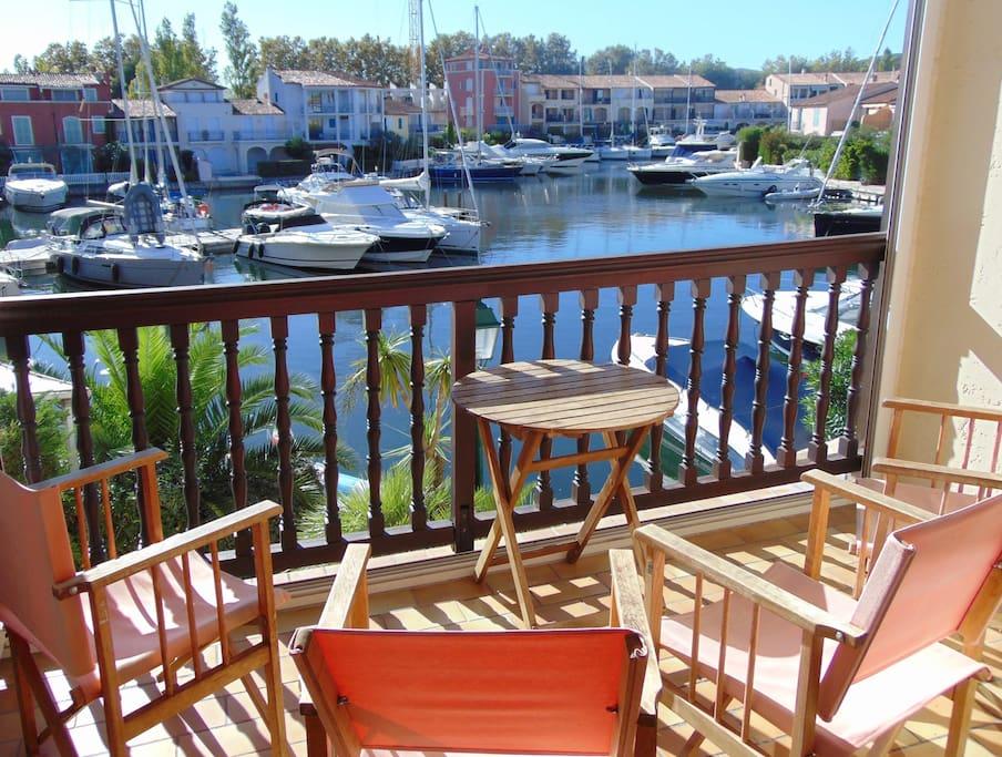 Waterside balcony view