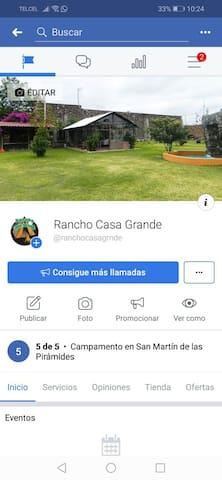 Rancho Casa Grande Área de campismo en Teotihuacan