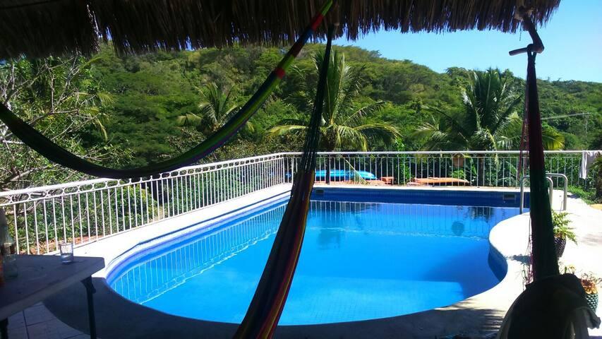 Studio Surf, Swimming pool, Burros Beach - Nayarit - Cabin