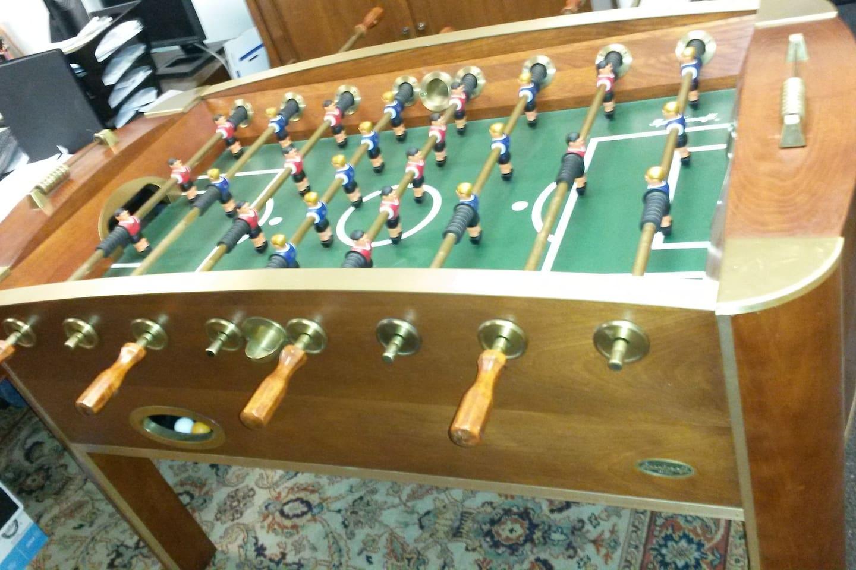 Foosball table in game room