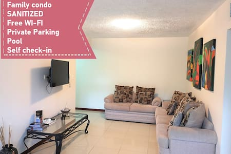 (Sanitized) 3 BR Family Condo, playa y surf.