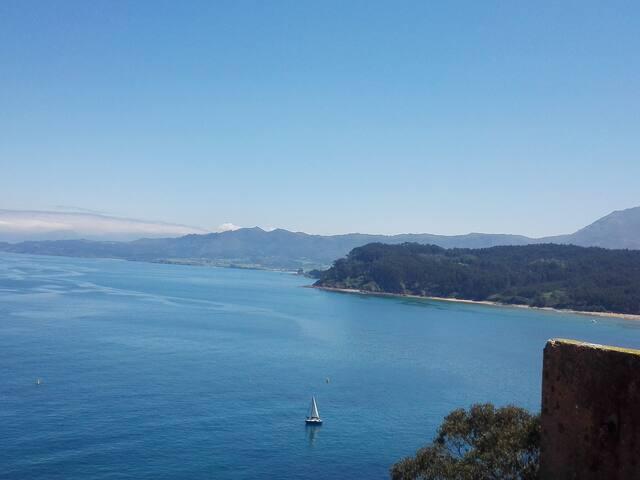 Ático con vistas al mar en Lastres