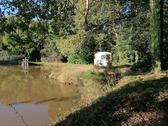 La caravane au bord de l'étang