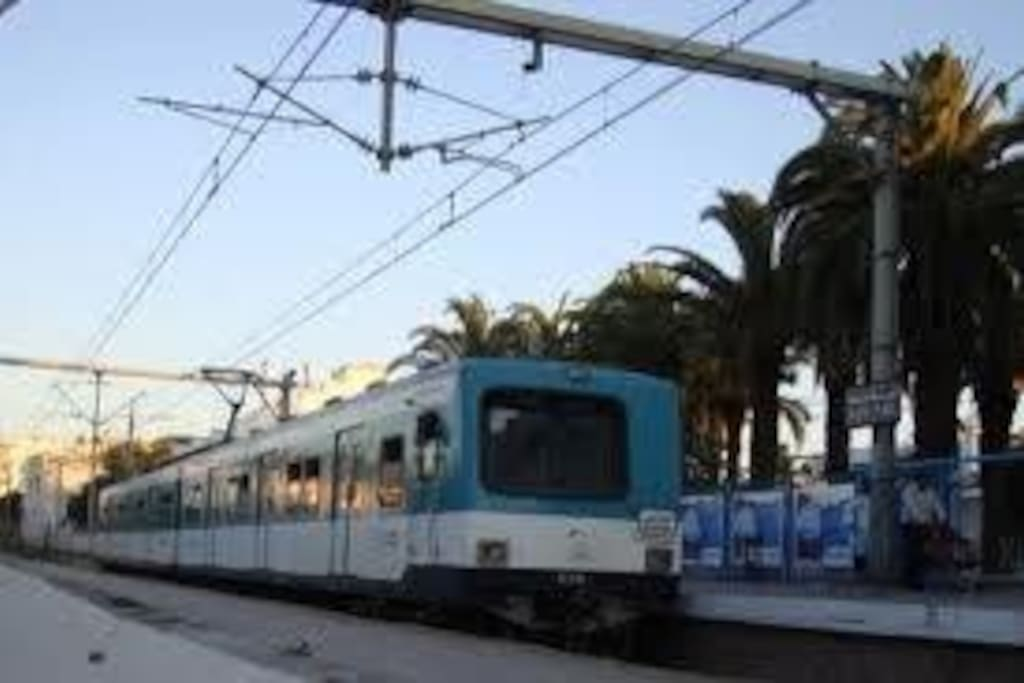 Commuter train - within short walking distance