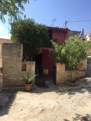 Traditional stone-built house, in Heraclion, Crete