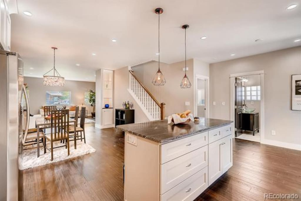 Large kitchen with open concept